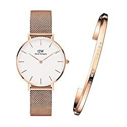 [ダニエルウェリントン]Daniel Wellington 腕時計 バングル 32mm Petite ペティット ペアウォッチ ローズゴールド レディース [並行輸入品]