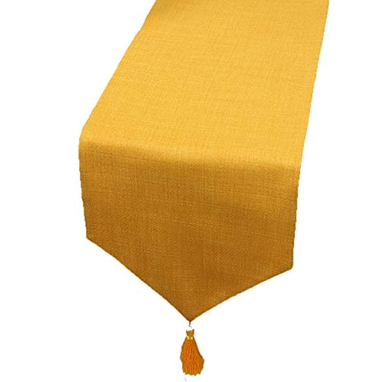 テーブルランナー ホームデコレーション 北欧 タッセル 純色 モダン おしゃれ 長方形 エレガント (Color : Brown, Size : 33×250cm)