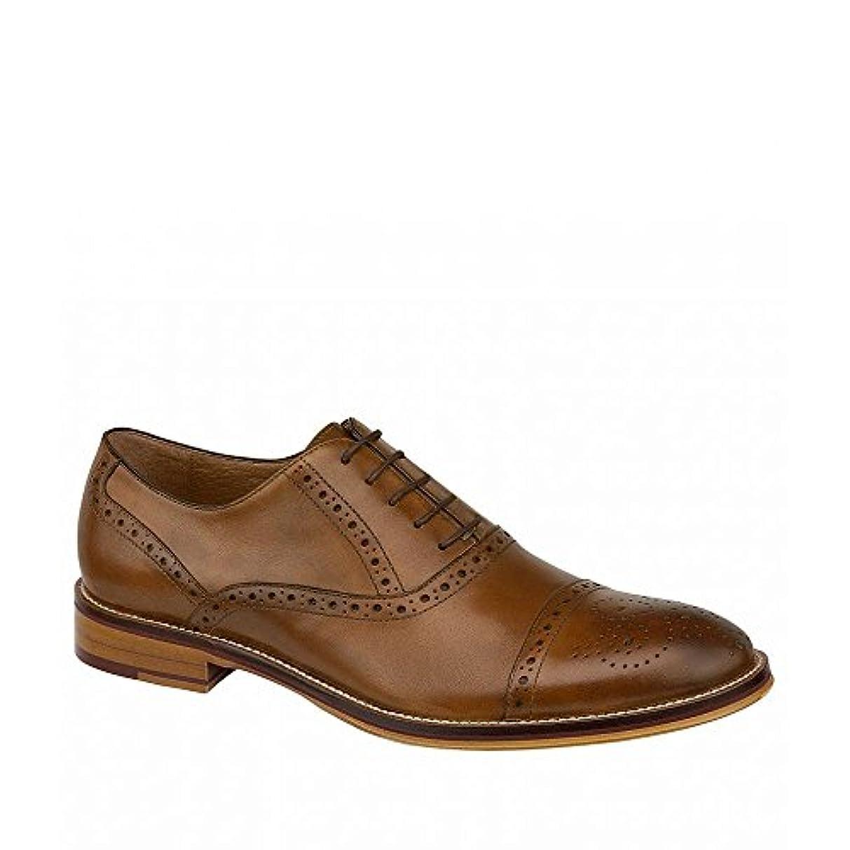 持続する忠誠ただやる(ジョンストン&マーフィー) Johnston & Murphy メンズ シューズ?靴 革靴?ビジネスシューズ Conard Cap-Toe Wingtip Detail Oxfords [並行輸入品]