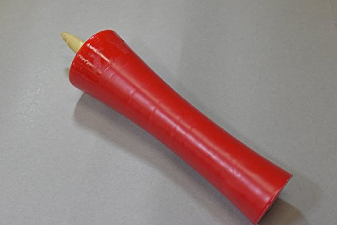 過度に拍手する骨髄和ろうそく 型和蝋燭 ローソク【朱】 イカリ 100号 朱色 2本入り
