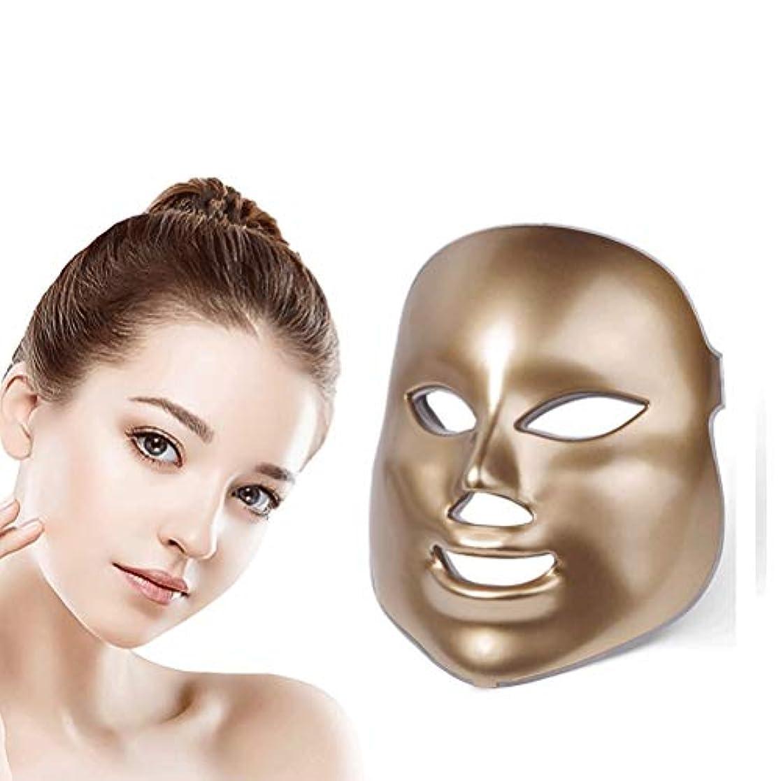 負担ビリーヤギ継続中美容ライトセラピーフェイスマスク、LEDフォトンセラピー7色の光処理スキンフェイシャル?ビューティサロンPDT技術にきび削減リンクル肌の若返りのために