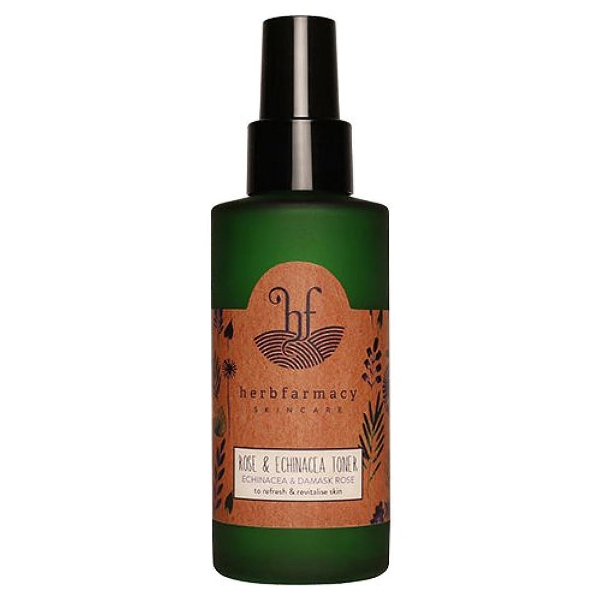 行方不明スキーム形式ハーブファーマシー (herbfarmacy) ダマスクローズ アンド エキナセア トナー 〈化粧水〉 (95mL)