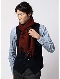 (ザ・スーツカンパニー) blazer's bank.com/ウールマフラー/Fabric by ABRAHAM MOON/レッドブラウン