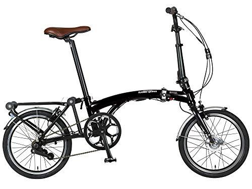 ハリー クイン(HARRY QUINN) PORTABLE 3つ折り&折りたたみ 電動アシスト自転車 ブラック 16インチ 乗る転が...