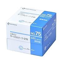 ニチバン 不織布サージカルテープ-21N 75mm幅 9m巻き 4巻入り