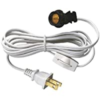 Westinghouse 70108 6-Foot Cord Set with Snap-In Pigtail Candelabra-Base Socket and Cord Switch, White [並行輸入品]