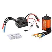 Rcharlance S3660 3300KV ブラシレスモーター センサーレス 5mm 60A ESC 防水 ブラシレススピードコントローラー&プログラムカードコンボセット アップグレードパワーシステム 1/10 RCカーボート用 (モーター+ESC+プログラムカード) HSRC036513N3151