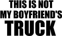 このはない私のボーイフレンドのトラックビニールデカールステッカーバンパー車トラックウィンドウー18インチワイド光沢シルバー色