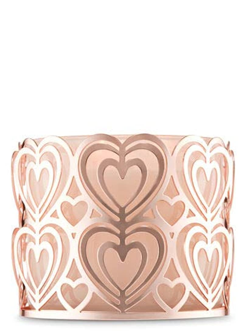 昼間治世最高【Bath&Body Works/バス&ボディワークス】 キャンドルホルダー ローズゴールドハート 3-Wick Candle Holder Rose Gold Heart [並行輸入品]