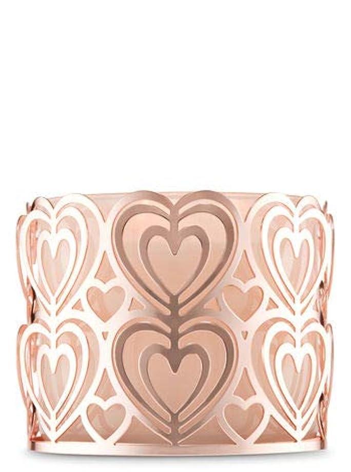 絶滅させるボクシング円形【Bath&Body Works/バス&ボディワークス】 キャンドルホルダー ローズゴールドハート 3-Wick Candle Holder Rose Gold Heart [並行輸入品]