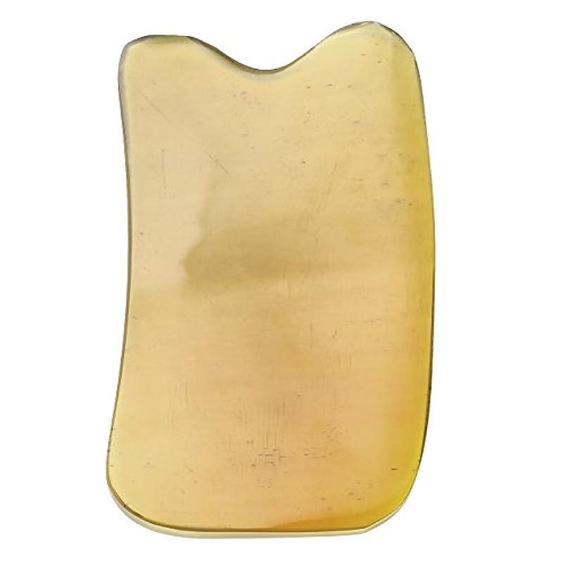 続編帰る在庫Jovivi Mak カッサリフトプレート 黄色 牛角 パワーストーン カッサ板 美顔 カッサボード カッサマッサージ道具 ギフトバッグを提供 (凹形)