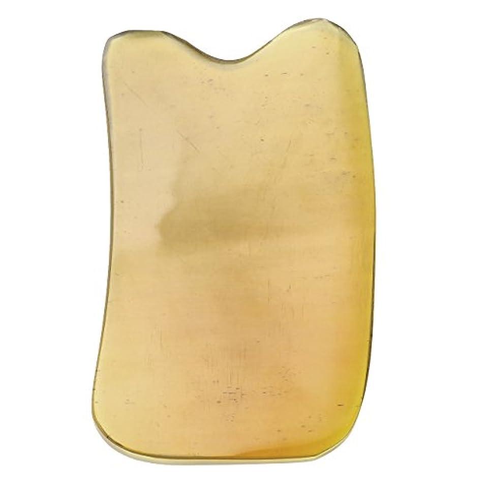 批評エレベーターアートJovivi Mak カッサリフトプレート 黄色 牛角 パワーストーン カッサ板 美顔 カッサボード カッサマッサージ道具 ギフトバッグを提供 (凹形)