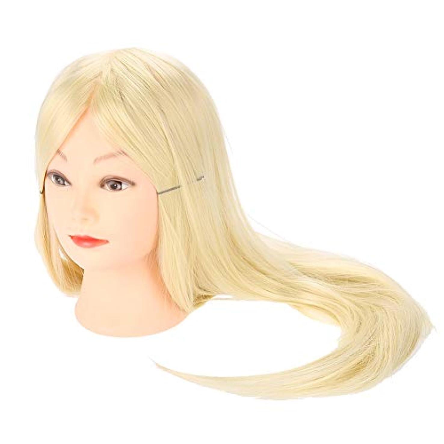 ハーブよろめく役に立たない編み込み練習用 モデルロングヘア理髪 編組セットツール 美容室サロン ウィッグマネキンヘッド メイクトレーニング用 ヘア編み込み ダミーヘッド レディウィッグ レディー