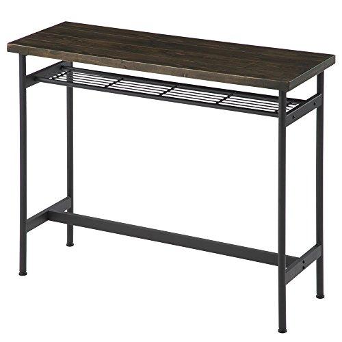 カウンターテーブル テーブル ハイタイプ ヴィンテージ風 バーテーブル ハイテーブル デスク ウォールナット