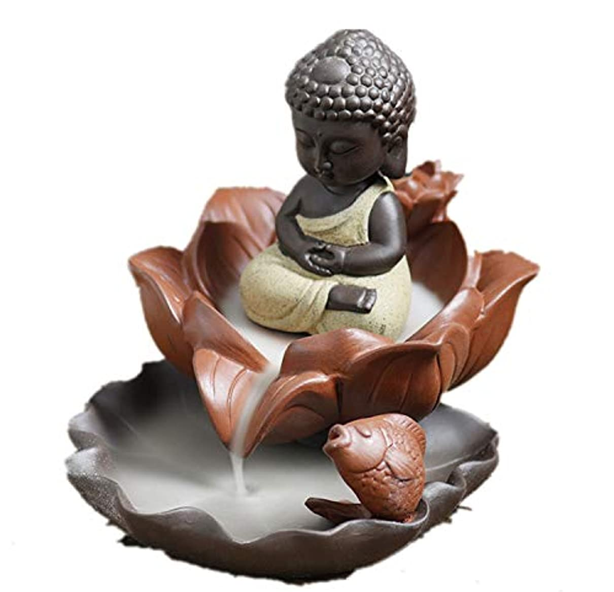 カウントアップ発疹放射性XPPXPP Backflow Incense Burner, Household Ceramic Returning Cone-shaped Candlestick Burner