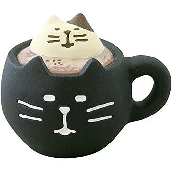 デコレ(Decole) 黒猫ラテ ブラック 3.0×2.4×h2.3 ZHW-92549