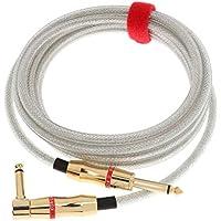 Fenteer 静電容量低 銅線 高音質導体 楽器ケーブル ギターケーブル 300cm 1/4インチ 直角ギター用