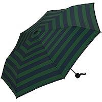 w.p.c(w.p.c) 【ユニセックス折りたたみ傘】MSMベーシックフォールディングアンブレラ(レディース/メンズ/雨傘)【グリーンボーダー/58】