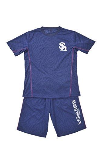 AMET(アメット) 福岡ソフトバンクホークス ドライハーフセットアップ ドライ素材 Tシャツ ハーフパンツ 上下セット プロ野球グッズ SHHP-15 ネイビー L