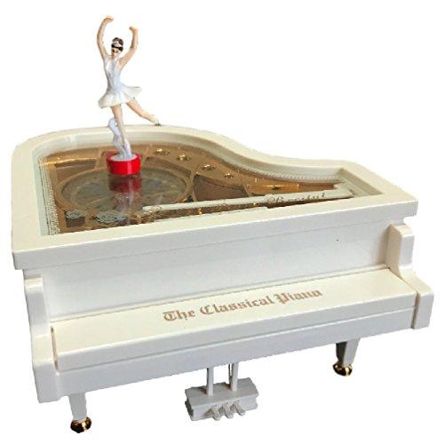 バレリーナ が 踊る ピアノ 型 オルゴール インテリア や...