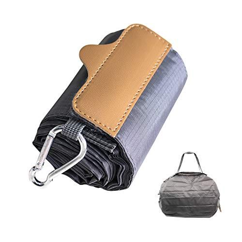 折りたたみ防水コンパクトバッグ(Lサイズ, グレー)