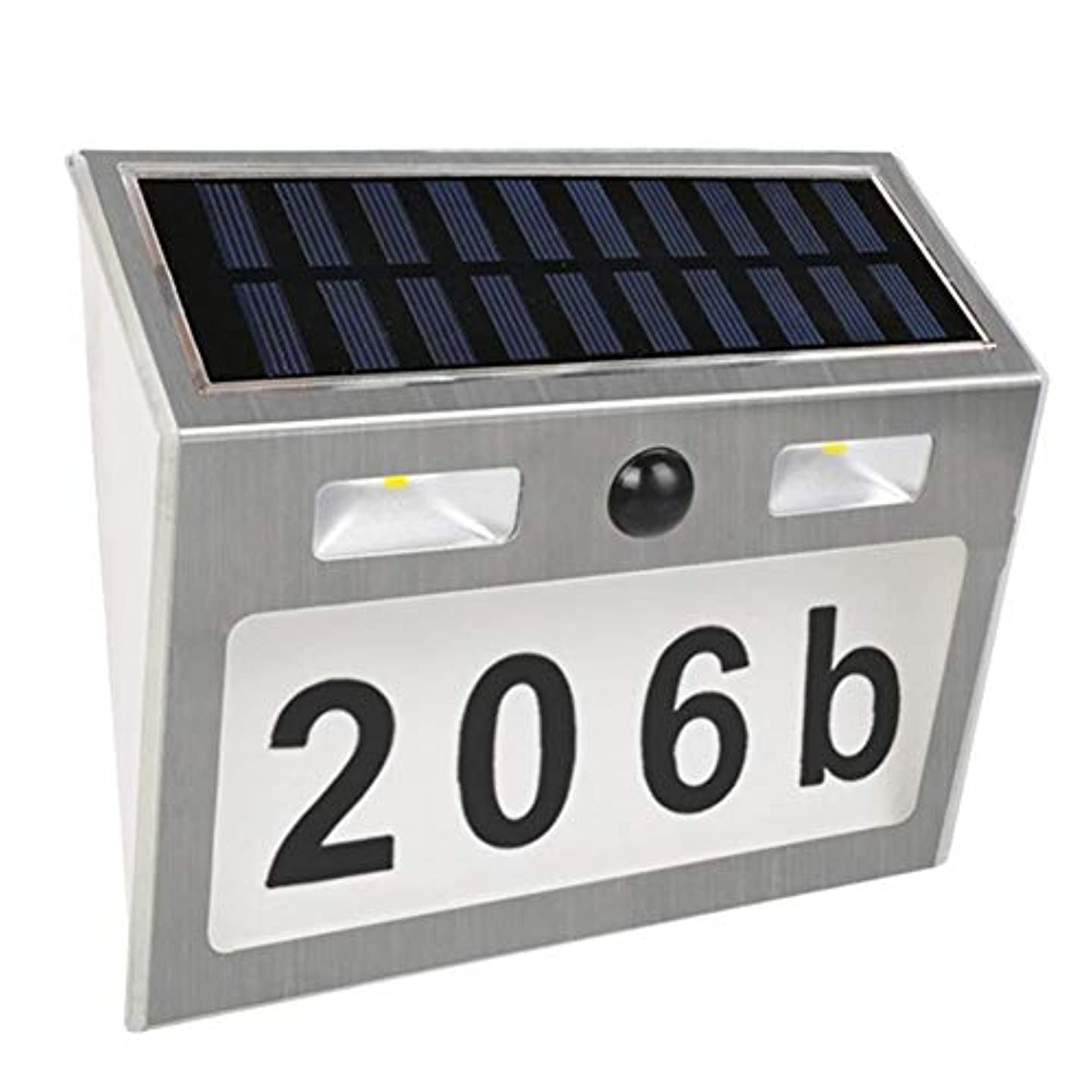 迅速場合学校教育ソーラーライト7 LEDソーラーハウスライトステンレススチール防水ソーラーボディセンサーライトガーデンヴィラデジタルハウスライト sundengy