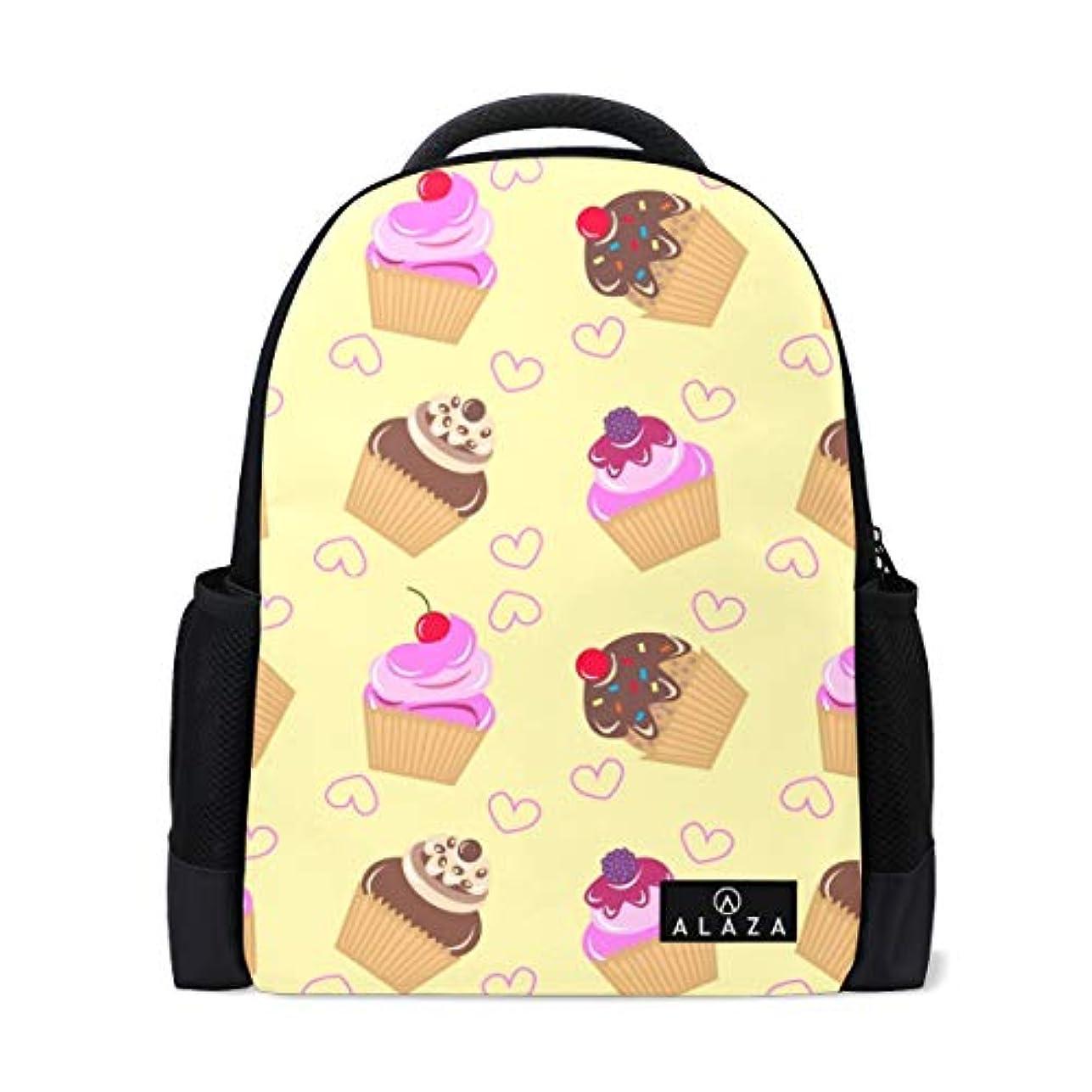モチーフ吸うとして旅立の店 リュックサック バックパック ケーキ 黄色 ポリエステル+メッシュ ファッション 通勤 通学