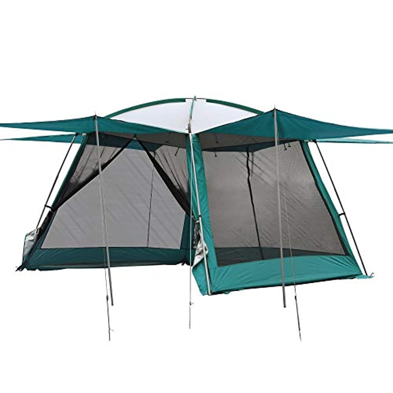 吸収剤抗生物質ささいなZMAYA STAR スクリーンテント メッシュスクリーン 蚊帳 キャンプ バーベキュー 3*3*2.2m 全3色 シェード 防虫メッシュ 虫除け 耐水加工 UVカット加工 通気性 アウトドア タープテント メッシュテント スクリーン一体型 収納袋付き 重量8kg ZM-AD249