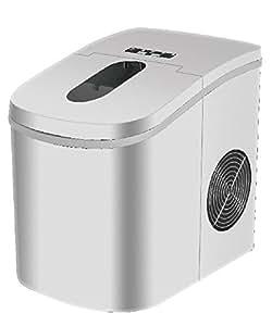 【製氷機クリーナープレゼント】 高速製氷機 (シルバー) 自動製氷 製氷器 家庭 氷 アイス レビュー 製氷機 家庭用 洗浄 洗浄剤 冷蔵庫 製氷機 小型