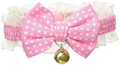 ターキー 水玉 猫 リボンカラー 3S ピンク 首輪