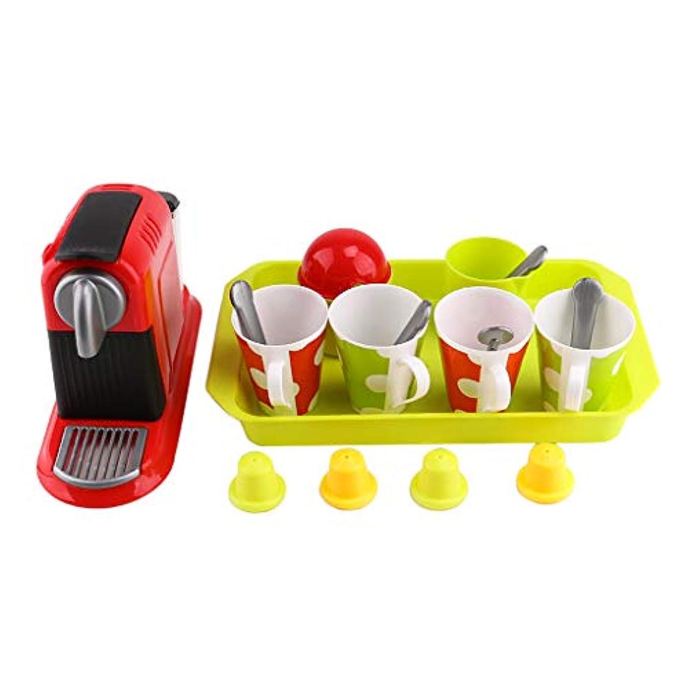 レタス天皇セットアップInjoyo ごっこ遊び 調理器具 ミニチュア キッチン 家電 コーヒーメーカー ロールプレイ ゲーム