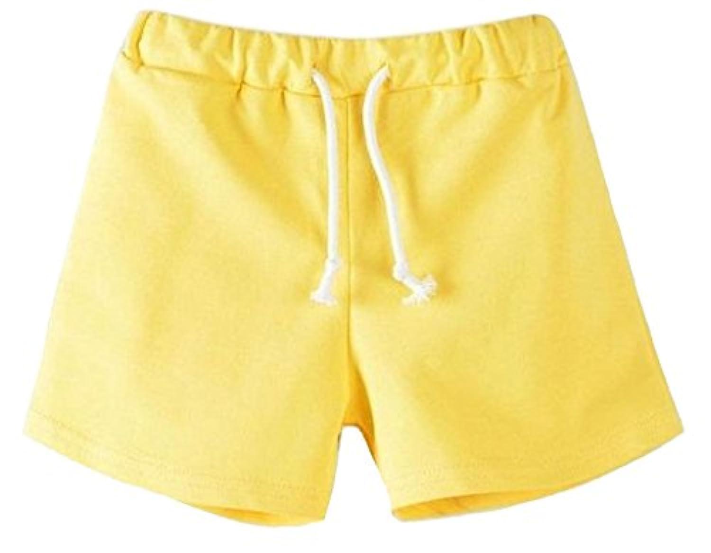 Plus Nao(プラスナオ) 子供用 ショートパンツ ホットパンツ ボトムス スウェット ウエストゴム ウエスト紐 運動着 部屋着 パジャマ ルーム