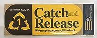釣りステッカーNo.28 Catch and Release 20×8cm NORTH ISLAND