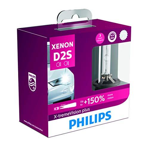 PHILIPS(フィリップス) ヘッドライト HID バルブ D2S 4800K 85V 35W エクストリームヴィジョンプラス XV2 Eマーク取得品 純正交換用 車検対応 3年保証 85122XV2X2