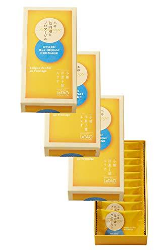 LeTAO(ルタオ) チーズ ラングドシャ クッキー 小樽色内通りフロマージュ4箱セット