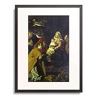 ディエゴ・ベラスケス Diego Rodríguez de Silva y Velázquez 「Die Anbetung der Konige.」 額装アート作品