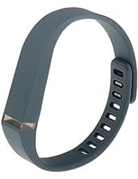 【ノーブランド品】 Fitbit Flex 対応 調節可能 交換用 ウォッチストラップ 腕時計バンド リストバンド - シアン