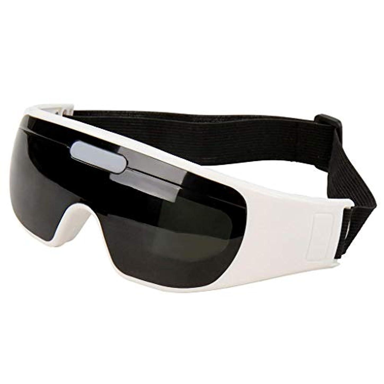 パフ孤独癒すアイマッサージメガネ、24ソフトマッサージセンサーメガネ、磁気療法アイマッサージャー、9モード電動アイマッサージャー健康、リラクゼーション、鍼