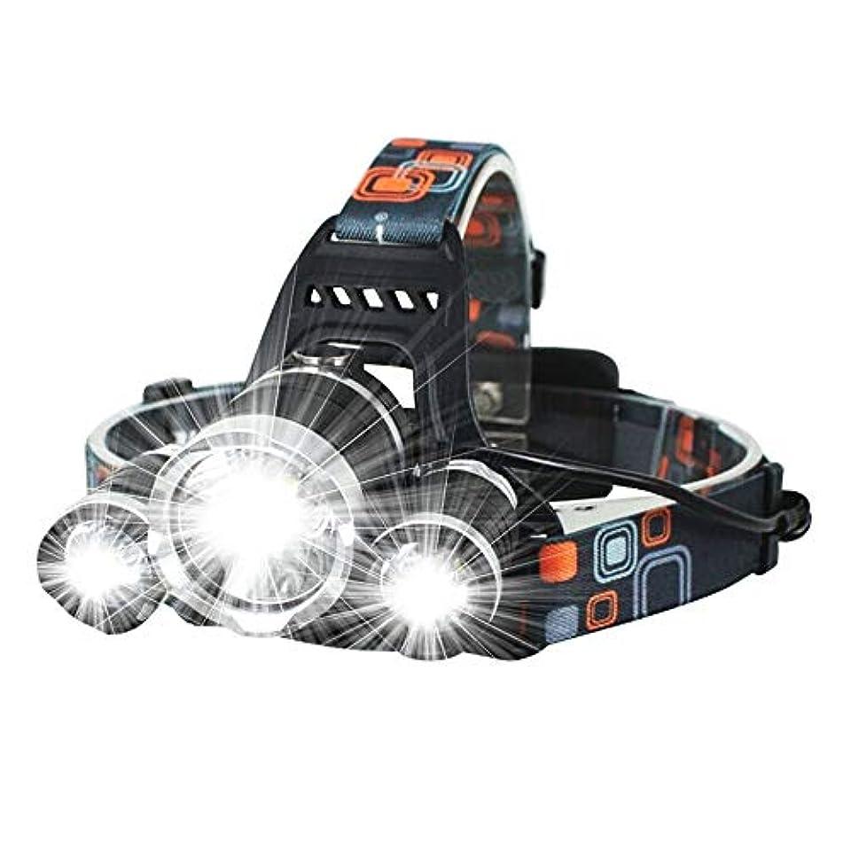 他のバンドで滑りやすいコークス極度の明るいヘッドライトキャンプの乗馬に適した3種類のライトモードスポットライトLEDヘッドライト懐中電灯 (色 : ブラック)