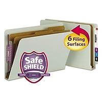 プレスボードンドタブ分類フォルダ、法的、six-section、gray-green、10/ボックス、として販売10各