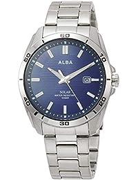 [アルバ]ALBA 腕時計 ALBA ソーラー スポーティーモデル ネイビー文字盤 ハードレックス AQGD403 メンズ