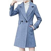 EnergyWomen Winter Wool-Blend Thicken Blazer Skinny Overcoat Trench Coat
