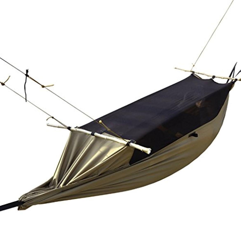 ウェイター酸っぱいただやるGJ ハンモック - 屋外防蚊テントハンモックキャンプアンチロールオーバーモスキートネットリフト耐摩耗多機能スイング
