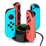 Nintendo Switch Joy-Con充電スタンド -NesBull ニンテンドースイッチ Joy-Con 急速充電ホルダー 台同時に充電可能 充電指示 LED