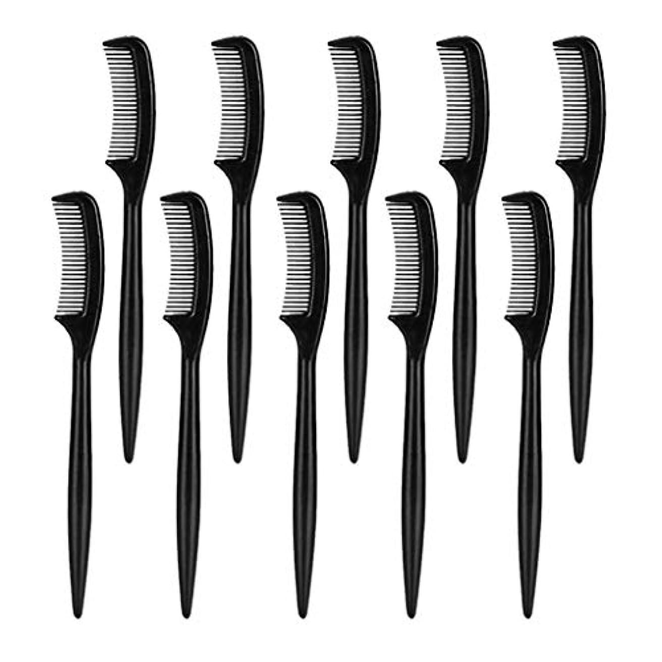 強風ホップ慣れている美容院の家の使用のための10部分のまつげ眉毛の使い捨て可能な櫛のブラシ