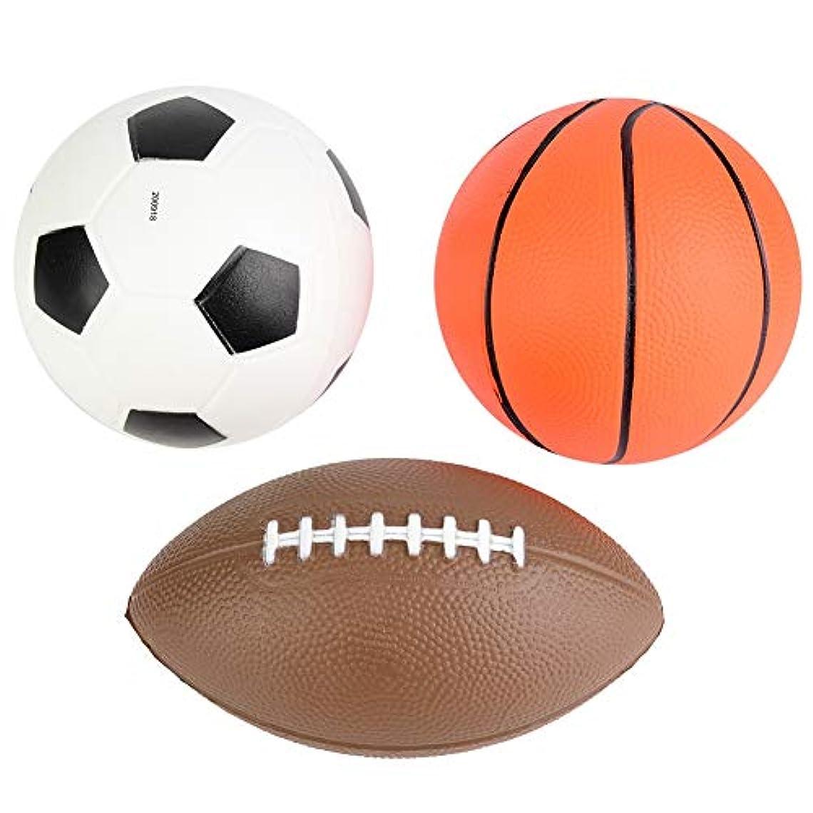 タヒチ集中好奇心ボールセットおもちゃ、アウトドアスポーツサッカーバスケットボールボールセットキッズおもちゃポータブルボール子供