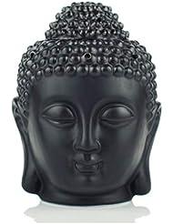 大容量セラミック香炉アロマランプ香炉オイル香炉香コーンバーナーホルダー香ホルダー (Color : Black, サイズ : 5.51*2.95 inches)