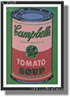 アンディ・ウォーホル *Colored Campbell's Soup Can 1965 (red & green) 【ポスター+木製フレーム】約 44 x 62 cm ブラック