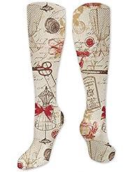 靴下,ストッキング,野生のジョーカー,実際,秋の本質,冬必須,サマーウェア&RBXAA Vintage Sewing Red Socks Women's Winter Cotton Long Tube Socks Cotton...