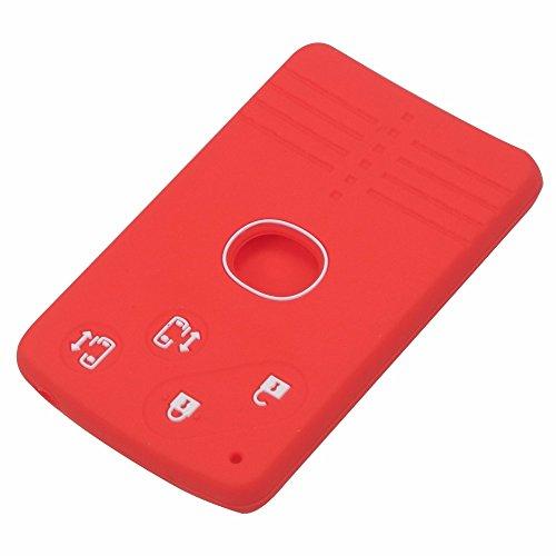 SNZ マツダ 4 ボタン シリコン リモート カード キー...